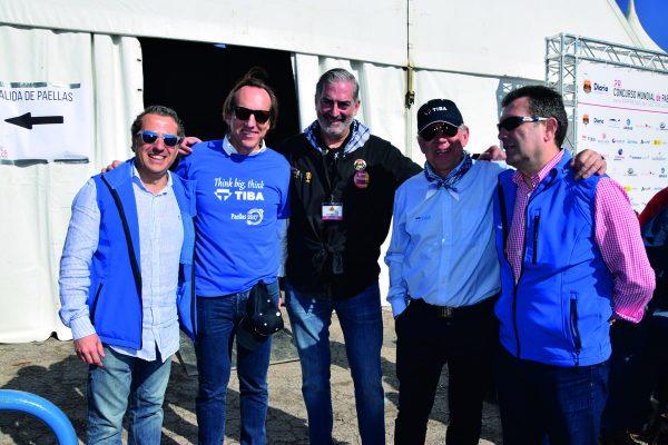 Miguel Marín, Javier Romeu, Paco Prado, Francisco Romeu y José Luis Alabau.