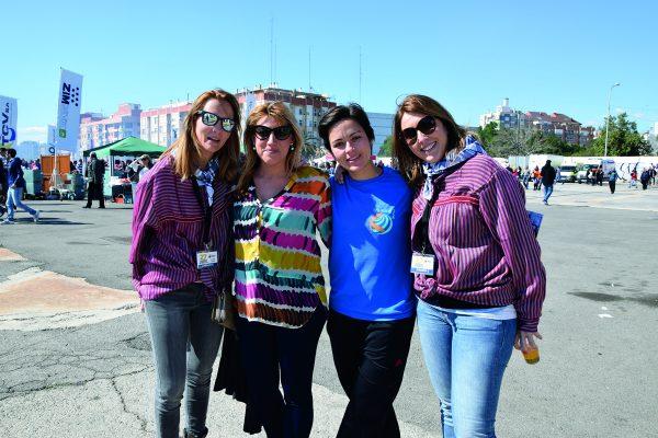 Rocío, Lorena, Natalia y Crstina